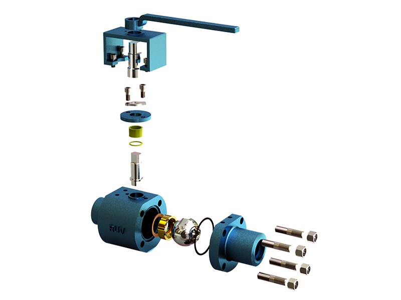 High Temperature Metal Seated Ball Valve